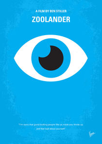 No362 My Zoolander minimal movie poster by chungkong