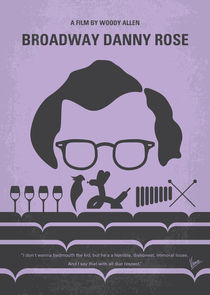 No363 My Broadway Danny Rose minimal movie poster von chungkong