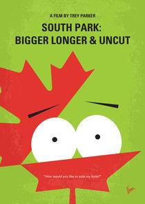No364 My South Park Bigger Longer Uncut minimal movie poster by chungkong
