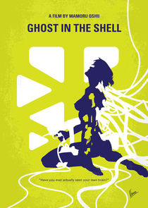 No366 My Ghost in the Shell minimal movie poster von chungkong