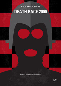 No367 My Death Race 2000 minimal movie poster by chungkong