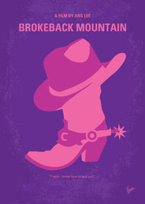 No369 My Brokeback Mountain minimal movie poster von chungkong