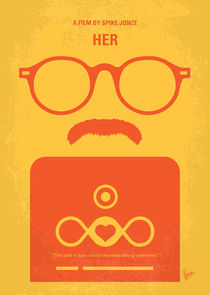 No372 My HER minimal movie poster von chungkong