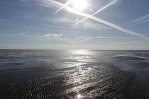 Wolken über dem Wattenmeer von Thorben Junge