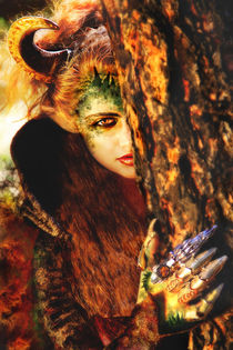 Maleficent in the forest close-up portrait by Söndra Rymer