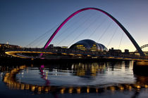 Gateshead Millennium Bridge and Sage Gateshead by David Pringle