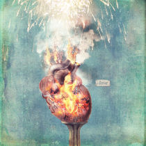 LOVE - Heart On Fire von Paula  Belle Flores
