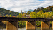 Looking Across The Potomac To Harpers Ferry by John Bailey