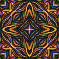 Lucky Stripe Mandala von Richard H. Jones