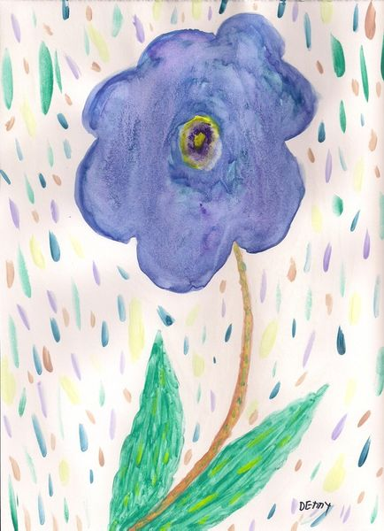Number-93-rain-floral