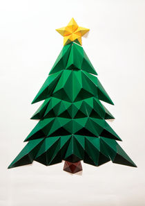 Paper Christmas Tree by Clinton Stringer