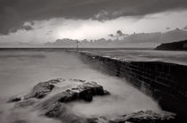 Porthleven in Cornwall - monotone by Pete Hemington