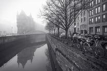 Speicherstadt im Nebel I von Simone Jahnke