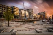 Sonnenuntergang in der Hafen-City by Martin Büchler