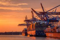 Sonnenuntergang im Hafen von Martin Büchler