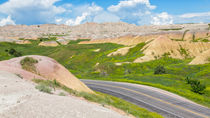 Yellow Mounds Of Badland by John Bailey