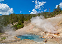 Bubbling Pools Of Yellowstone by John Bailey