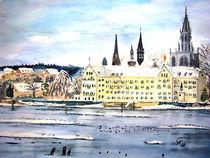 Konstanzer Inselhotel in Winterstimmung von Christine  Hamm