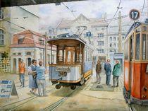 Historisches Straßenbahndepot in Leipzig von Ronald Kötteritzsch