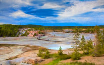 Overlook Of Norris Geyser Basin Yellowstone von John Bailey