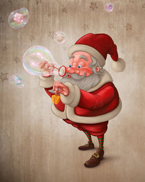 Santa Claus and the bubbles soap von Giordano Aita