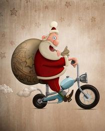 Santa Claus motorcycle delivery by Giordano Aita