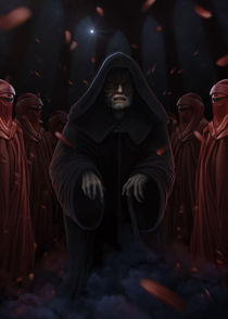 Palpatine and the imperors royal guard by Giordano Aita