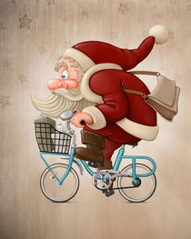 'Santa Claus rides the bicycle' by Giordano Aita