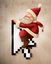 Santa Claus and shopping on-line von Giordano Aita