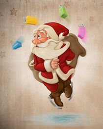 Santa Claus on ice von Giordano Aita