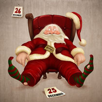 Tired Santa Claus by Giordano Aita