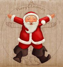 Vitruvian Santa Claus von Giordano Aita
