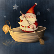 Santa Claus and walnut shell von Giordano Aita