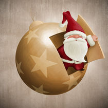 'Santa Clause inside the decorative ball' by Giordano Aita
