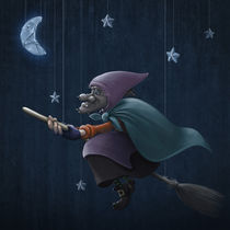 Epiphany rides a broom by Giordano Aita