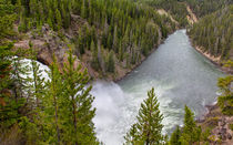 The Majestic Yellowstone River by John Bailey