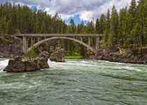 North Rim Trail Bridge On The Yellowstone River by John Bailey
