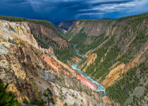 Storm Over The Yellowstone Canyon von John Bailey