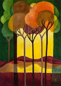 Bäume abstrakt by Doro T