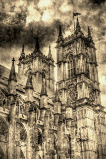 Westminster Abbey London Vintage by David Pyatt