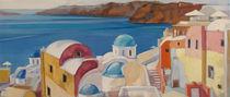 Panorama - Santorini, Greece by Iva Ivanova