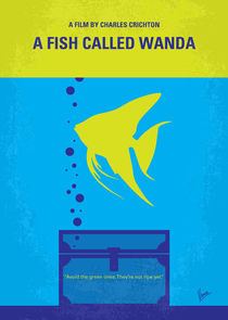No389 My A Fish Called Wanda minimal movie poster von chungkong