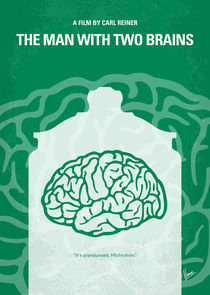 No390 My The Man With Two Brains minimal movie poster von chungkong