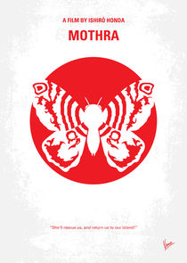 No391 My Mothra minimal movie poster von chungkong
