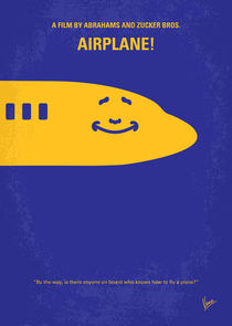 No392 My Airplane! minimal movie poster by chungkong