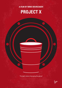 No393 My PROJECT X minimal movie poster von chungkong