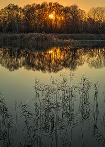 Sunset lake by Giordano Aita