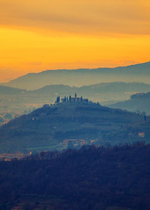 The monastery on the hill by Giordano Aita
