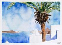 Santorini Island - drawing XIII von Iva Ivanova