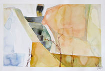 Santorini Island - drawing VII by Iva Ivanova